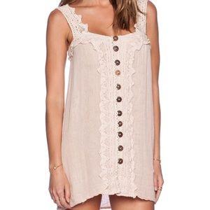Jen's Pirate Booty Dresses - EUC Jen's Pirate Booty Gauze Lace Button Dress S